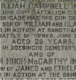 Inscription– Dedication on the front panel of the Ince family monument at St. James Cemetery, Parliament St., Toronto, Ontario, Canada.
