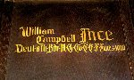 Memorial– A detail of the memorial panel dedicated to Lt. William Campbell Ince.  Located in the St. Thomas Church Baptistry, Toronto, Ontario.