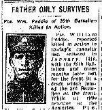Coupre de presse – Tiré du Toronto Star du 1 avril 1916.