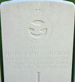 Grave Marker– Captain Osborne was attached to the Royal Flying Corps when he was killed July 7, 1917.
