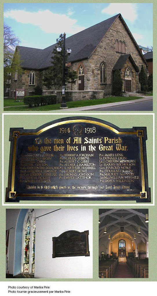 All Saints' Anglican Church Memorial Plaque