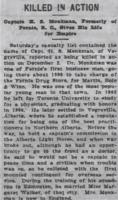 Newspaper clipping– From the Daily Colonist of December 15, 1915. Image taken from web address of https://archive.org/stream/dailycolonist57y317uvic#mode/1up