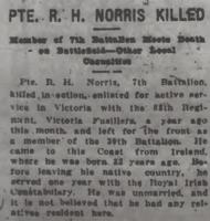 Newspaper clipping– From the Daily Colonist of August 8, 1915. Image taken from web address of https://archive.org/stream/dailycolonist57y207uvic#mode/1up