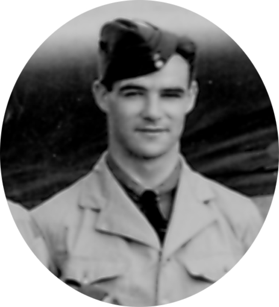 Photo of Robert Mather– Photo extracted from graduation photograph of 1st Observer Course August 16th, 1940.  He and 21 other classmates out of a class of 39 were dead by 21 September 1944.