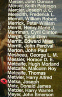 Memorial– Pilot Officer Joseph Metka is also commemorated on the Bomber Command Memorial Wall in Nanton, AB … photo courtesy of Marg Liessens