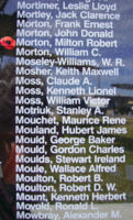 Memorial– Pilot Officer Milton Robert Morton is also commemorated on the Bomber Command Memorial Wall in Nanton, AB … photo courtesy of Marg Liessens