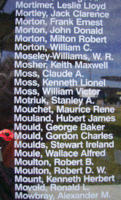 Memorial– Flight Sergeant Gordon Charles Mould is also commemorated on the Bomber Command Memorial Wall in Nanton, AB … photo courtesy of Marg Liessens