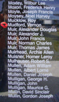Memorial– Pilot Officer Vernon Mudford is also commemorated on the Bomber Command Memorial Wall in Nanton, AB … photo courtesy of Marg Liessens