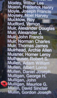 Memorial– Sergeant Maurice Gregory Mulligan is also commemorated on the Bomber Command Memorial Wall in Nanton, AB … photo courtesy of Marg Liessens