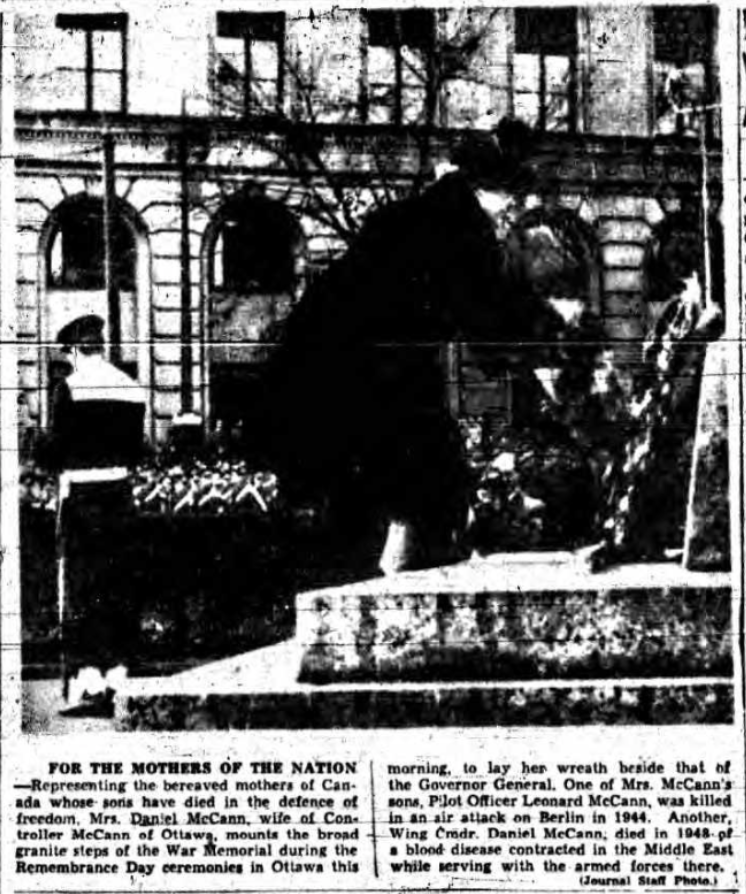 Newspaper Clipping– Mrs Hannah McCann Silver Cross Mother 1952.  Submitted for the project, Operation Picture Me