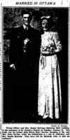 Newspaper Clipping– Photo of Leonard's brothers wedding. Daniel McCann died in 1948 from a blood disorder he contacted while serving in the Middle East. Their mother was the National Silver Cross Mother. Remembered on the pages of the Ottawa Journal. Submitted for the project, Operation Picture Me