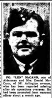Newspaper Clipping– Remembered on the pages of the Ottawa Journal. Submitted for the project, Operation Picture Me