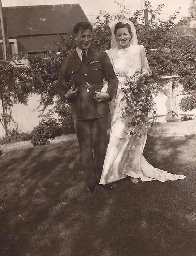 Wedding– Wedding to Margaret Elizabeth Griffiths at Llantwit Major Church Glamorgan Wales