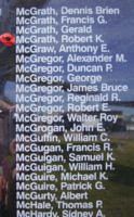 Memorial– Flight Sergeant Robert Kenneth McGrath is also commemorated on the Bomber Command Memorial Wall in Nanton, AB … photo courtesy of Marg Liessens