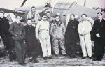 Group Photo– Battle-hardened pilots of No.242 (Canadian) Fighter Squadron pose in front of the Commanding Officer's Hawker Hurricane Mk.I at RAF Station Duxford. (L- R) D.W. Crowley-Milling (RAF), P/O HUGH NORMAN TAMBLYN from Yorkton, Saskatchewan-killed in action 3 April 1941, F/L Stan Turner from Toronto, Ontario, P/O Norman Neil Campbell from St.Thomas, Ontario-killed in action 17 October 1940. P/O William 'Willie' Lidstone McKnight from Edmonton, Alberta-killed in action 12 January 1941, S/L D.R.S 'Douglas' Bader-Commanding Officer of No. 242 (Canadian) Fighter Squadron, F/L G.E. Ball (RAF)-killed in action after Battle of Britain, P/O M.G. Homer (RAF)-killed in action 27 September 1940, P/O M.K. Brown of Kincardine, Ontario - killed in flying accident on 21 February, 1941.  Submitted for the project: Operation Picture Me