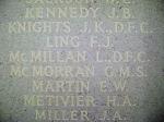 Inscription– Lorne's name on Panel 278 at Runnymede Memorial near Surrey, UK.