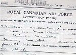 Attestation Papers– This is the first page of McMillan's entry document.  He lists himself and his father as farmers.  Notice that the father and mother were both born in Ontario.  Source: Whitehouse via Archives Canada