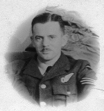 Photo of Francis Hugh McMullin– Frank McMullin, photo taken late 1941 or early 1942 shortly before his plane crashed into the sea near Redcar, Yorkshire.