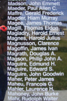 Memorial– Pilot Officer Thomas Eldon Magill is also commemorated on the Bomber Command Memorial Wall in Nanton, AB … photo courtesy of Marg Liessens