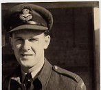 Photo of Ross Bertran, in Egypt– Ross Bertran, D.F.C.  Shallufa, Egypt, Nov/Dec 1942.Photo taken by Jack Hoskins, Wing Commander 221 Squadron.