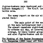 Details of mission– Page 1 of 3 describing the mission on October 26, 1942 for which Ross Bertran was awarded the Distinguished Flying Cross.
