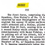 Details of mission (page 2)– Page 2 of 3 describing the mission on October 26, 1942 for which Ross Bertran was awarded the Distinguished Flying Cross.