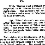 Details of mission (page 3)– Page 3 of 3 describing the mission on October 26, 1942 for which Ross Bertran was awarded the Distinguished Flying Cross.