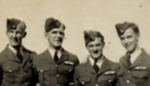 Group Photo– Saskatoon 1942 getting their wings...left to right Swannie Hill,Ross,Hal Davidson,Harry Layton Bray