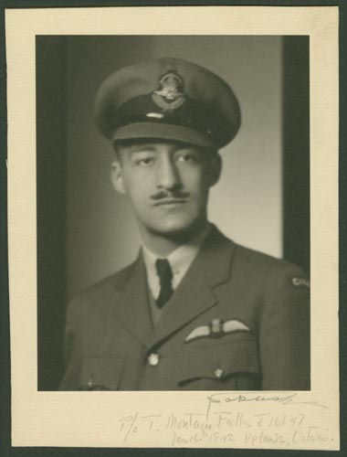 Photo of Tom Montague Falls– Flying Officer Tom Montague Falls courtesy McGill University archives