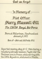 Document– A document in memory of Maxwell, explaining the details of his death.