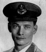 Photo of Ian Sutherland– Alexander, Ian Sutherland - Flying Officer. Born 30th May, 1917, at Georgetown, Ont. Educated at Renfrew Public School, and at Brown School and Oakwood Collegiate Institute, Toronto. Entered the service of the Bank 1st March, 1937. Served at Adelaide & Yonge and City Hall (Toronto). Enlisted 15th May, 1942, from the latter branch in R.C.A.F. Pilot Officer 29th June, 1943; Flying Officer 25th December, 1943. Trained at Hagersville, Ont. Overseas in July, 1943.Reported missing after air operations over Hamburg on 29th July, 1944. Officially presumed dead 2lst June, 1945. From a memorial booklet prepared by the Canadian Bank of Commerce.