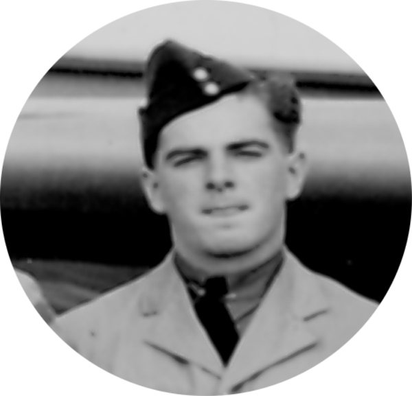 Photo of ROBERT WILFRED ALEXANDER– Photo extracted from graduation photograph of !st Observer Course August 16th, 1940.  He and 21 other classmates out of a class of 39 were dead by 21 September 1944.