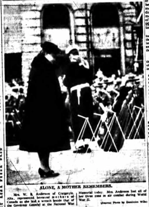 Newspaper Clipping– Mrs Dagnie Asta Anderson Silver Cross Mother 1959. Submitted for the project, Operation Picture Me