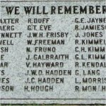 Memorial– Cecil Joseph Bennett is commemorated on this memorial tablet in Fort Langley, British Columbia.