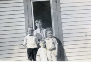 "Photo of JOHN NICHOLSON CAWSEY– L-R John ""Buzz"" Cawsey, Lorne Campbell, Audrey and Robert Cawsey. Submitted for the project, Operation Picture Me"