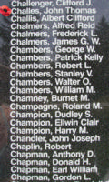 Memorial– Flying Officer John Thomas Irvine Challes is also commemorated on the Bomber Command Memorial Wall in Nanton, AB … photo courtesy of Marg Liessens
