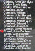 Memorial– Flight Sergeant John Dunham Correll is also commemorated on the Bomber Command Memorial Wall in Nanton, AB … photo courtesy of Marg Liessens