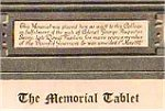 Memorial Plaque– A brass Memorial Tablet containing the names of Upper Canada College students who died on active service during WWI.   It was unveiled on May 1st, 1921.  UCC is located in Toronto, Ontario.