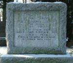 Memorial– Memorial marker to Captain William Sinclair Tuck. Located in St. Jude's Cemetery, Oakville, Ontario.