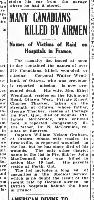 Newspaper clipping– From The Ottawa Journal, Monday May 27, 1918.