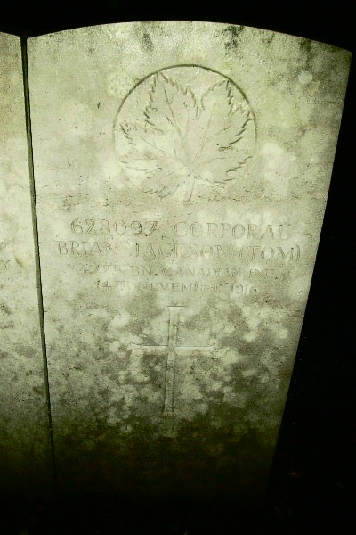 Grave marker– Bois Guillaume Communal Cemetery … photo courtesy of Marg Liessens