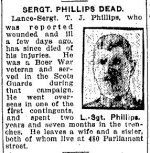 Newspaper Clipping– Clipping from the Toronto Star for 21 September 1917, page 2.