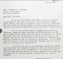 Letter– Letter to parents in 1952 re Runnymede Memorial