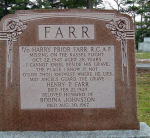 Memorial– Memorial marker to Flying Officer Harry Prior Farr.  Located in St. Jude's Cemetery, Oakville, Ontario.