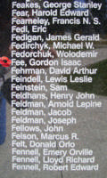 Memorial– Flight Sergeant Gordon Isaac Fee is also commemorated on the Bomber Command Memorial Wall in Nanton, AB … photo courtesy of Marg Liessens