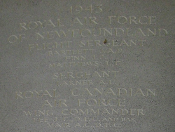 Photo of JOHN CLARKE FEE– Inscription - Runnymede Memorial - September 2010 … photo courtesy of Marg Liessens