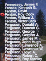 Memorial– Warrant Officer Class II Roy Cook Fenton is also commemorated on the Bomber Command Memorial Wall in Nanton, AB … photo courtesy of Marg Liessens