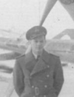 Photo of William Gibbs– William Gibbs was with RCAF 128 Squadron before joining 440 Squadron. This picture is part of F/L Walter Neil Dove's collection. Both were stationed in Newfoundland in December 1943.