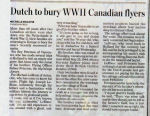 Newspaper clipping– Son of Lawrence and Ethel Peterson, of Vancouver, British Columbia. Brother of Warren Senior, Clive Julius and Roy Eric Peterson. Brother of Flying Officer Sidney Glen Peterson (J-14208) deceased May 25, 1944.