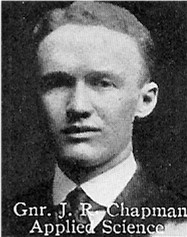Photo of James Chapman– From: The Varsity Magazine Supplement published by The Students Administrative Council, University of Toronto 1916.   Submitted for the Soldiers' Tower Committee, University of Toronto, by Operation Picture Me.